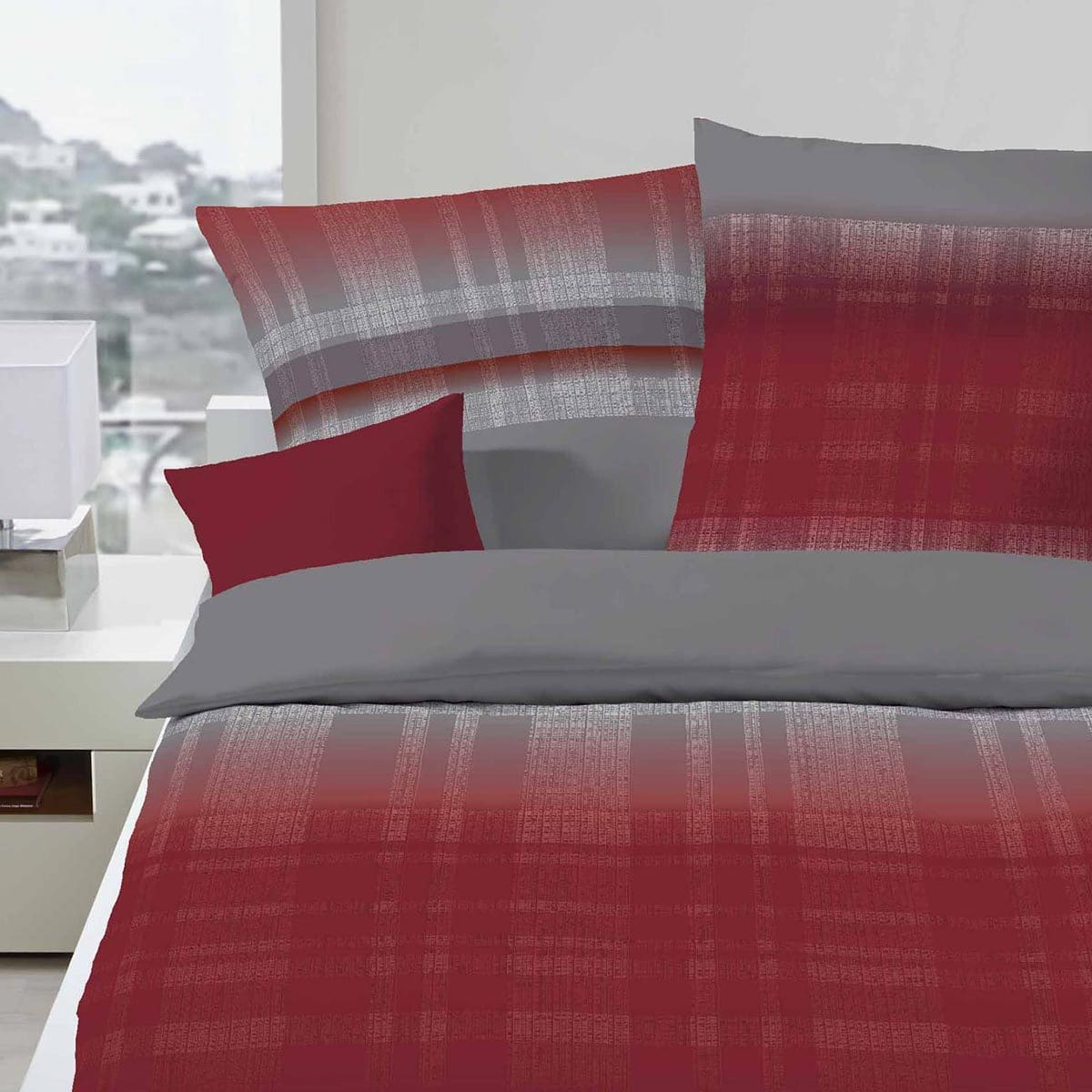 kaeppel biber bettw sche trace karmin g nstig online kaufen bei bettwaren shop. Black Bedroom Furniture Sets. Home Design Ideas