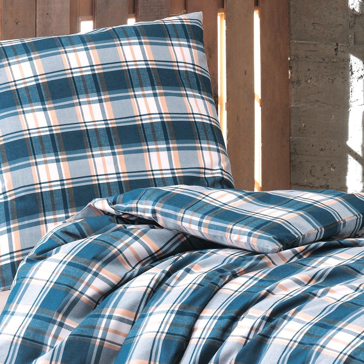 optidream biber bettw sche valdez blau g nstig online kaufen bei bettwaren shop. Black Bedroom Furniture Sets. Home Design Ideas