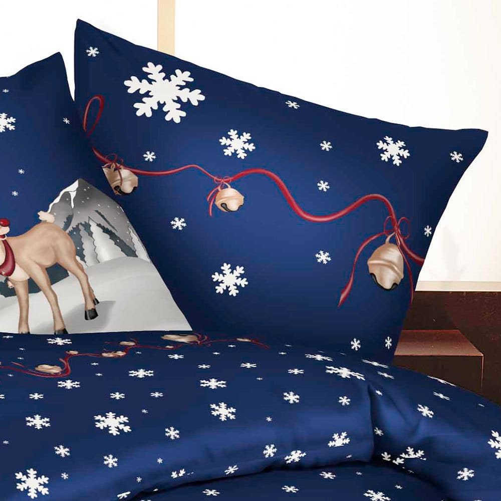 bettwarenshop biber bettw sche winterwonderland blau g nstig online kaufen bei bettwaren shop. Black Bedroom Furniture Sets. Home Design Ideas