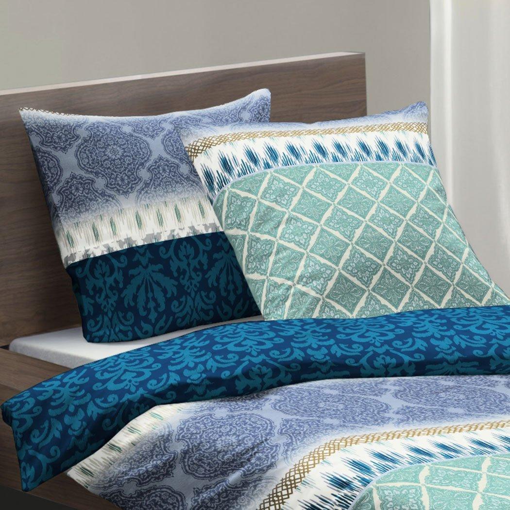 fleuresse biber wendebettw sche davos paisley blau g nstig online kaufen bei bettwaren shop. Black Bedroom Furniture Sets. Home Design Ideas