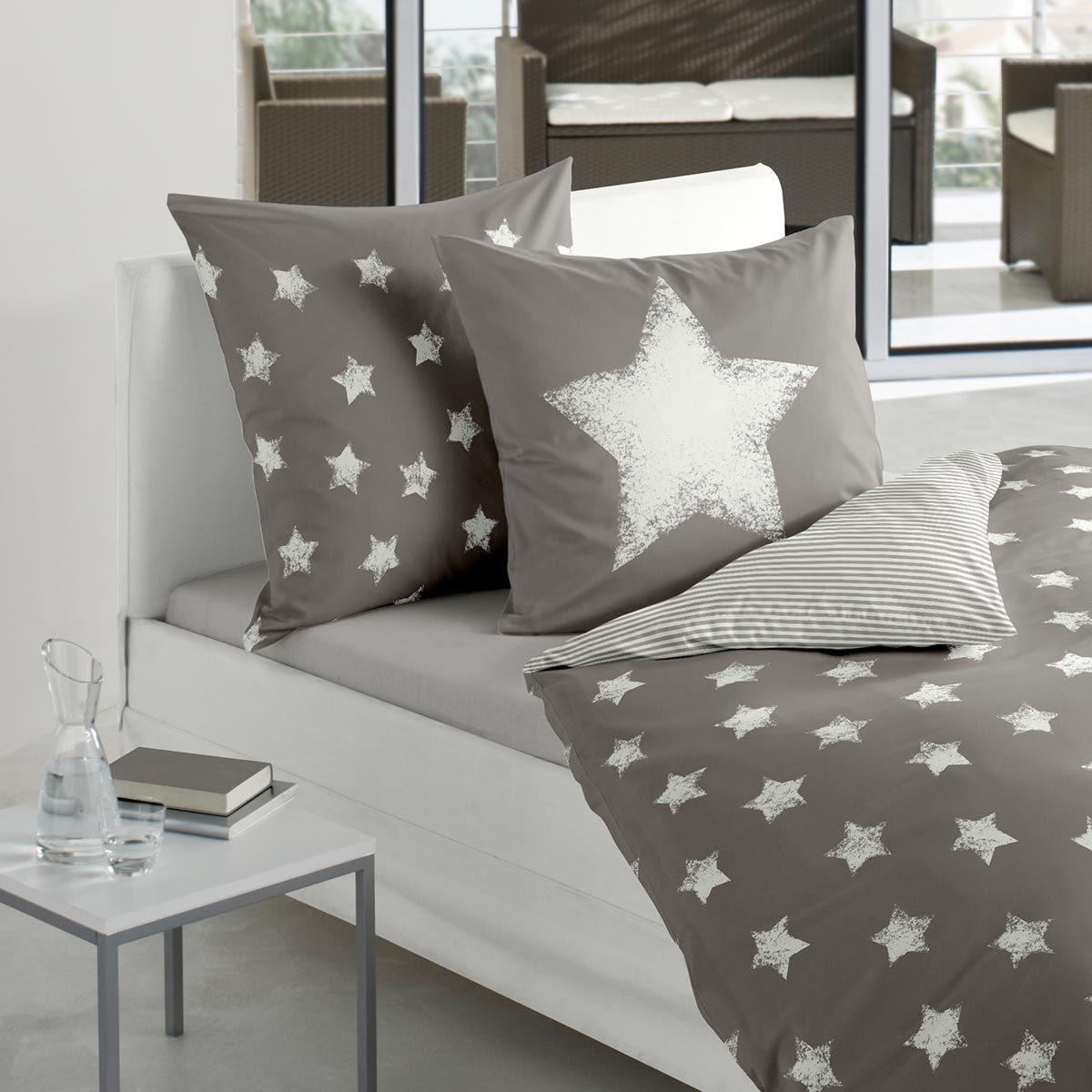 bierbaum biber wendebettw sche sterne mokka g nstig online kaufen bei bettwaren shop. Black Bedroom Furniture Sets. Home Design Ideas