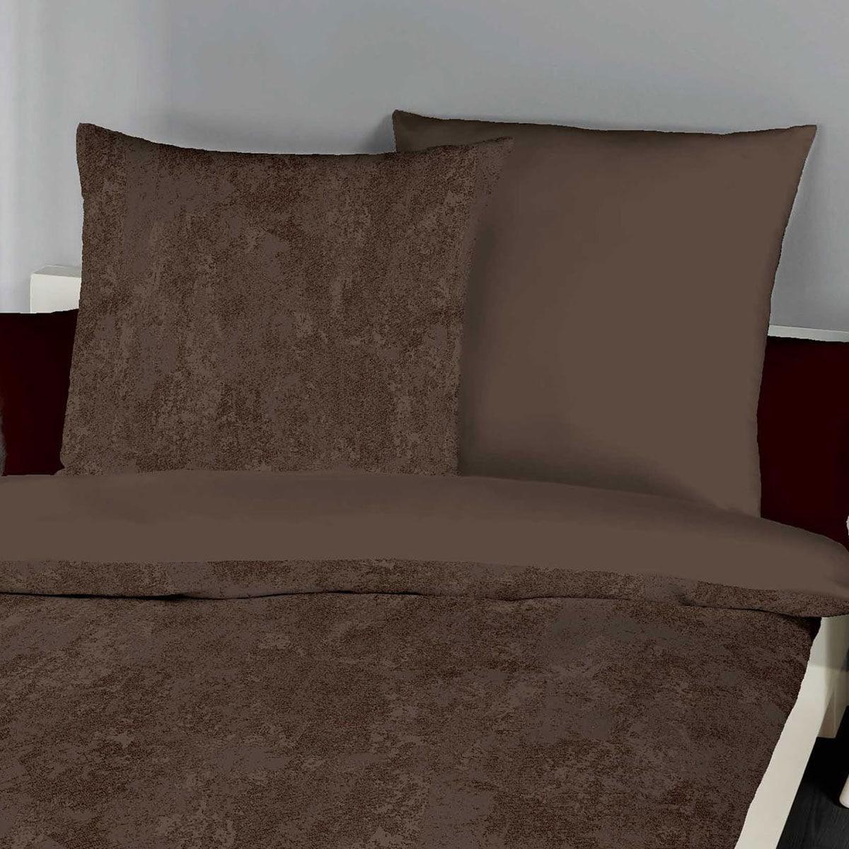 traumschlaf biber wendebettw sche texture braun g nstig online kaufen bei bettwaren shop. Black Bedroom Furniture Sets. Home Design Ideas