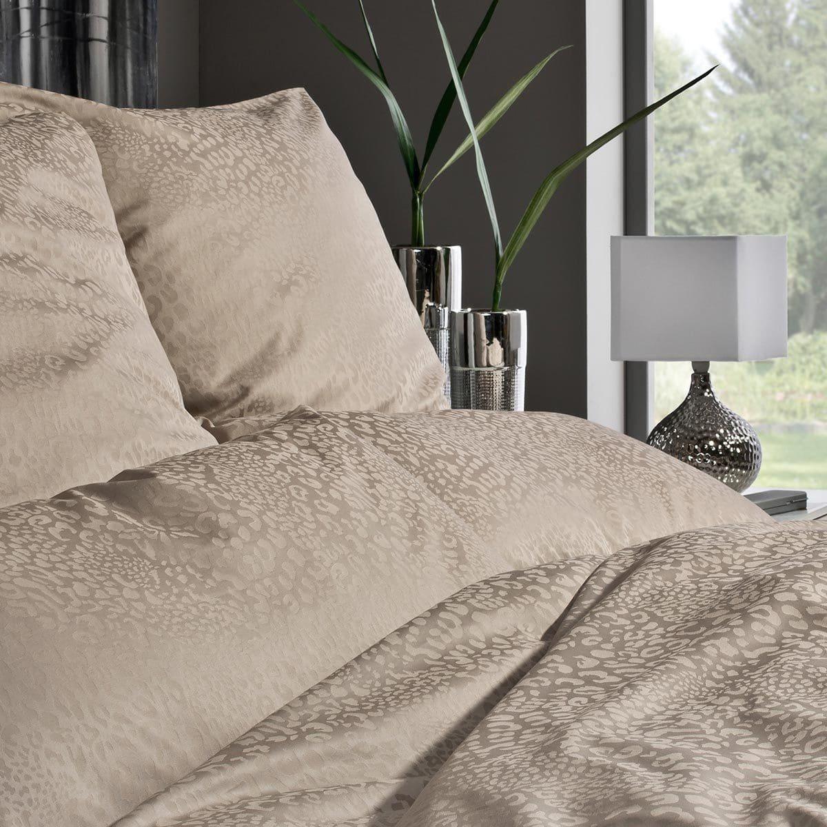 estella damast bettw sche jamal kiesel g nstig online kaufen bei bettwaren shop. Black Bedroom Furniture Sets. Home Design Ideas
