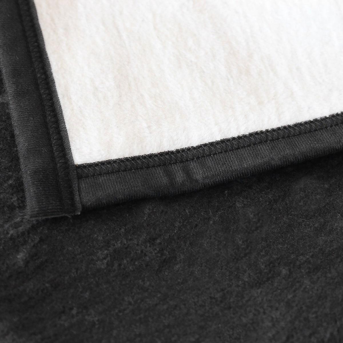 ibena doubleface wohndecke black and white g nstig online kaufen bei bettwaren shop. Black Bedroom Furniture Sets. Home Design Ideas