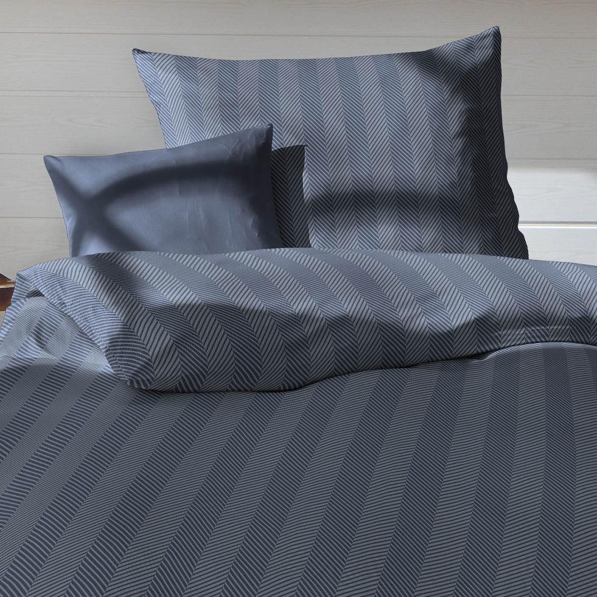 fleuresse edelflanell bettw sche 603738 02 indigo g nstig online kaufen bei bettwaren shop. Black Bedroom Furniture Sets. Home Design Ideas