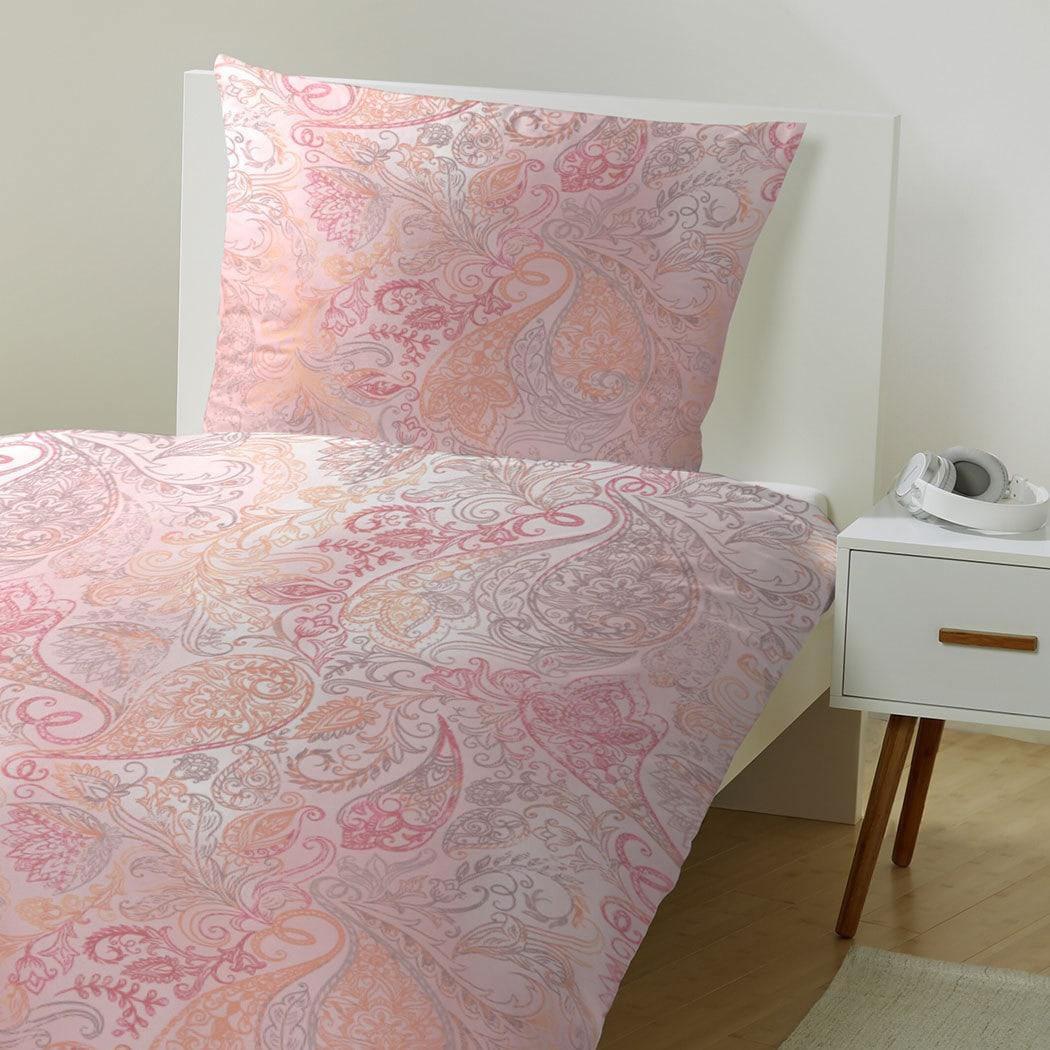 hahn edelflanell bettw sche ornamente pink g nstig online. Black Bedroom Furniture Sets. Home Design Ideas