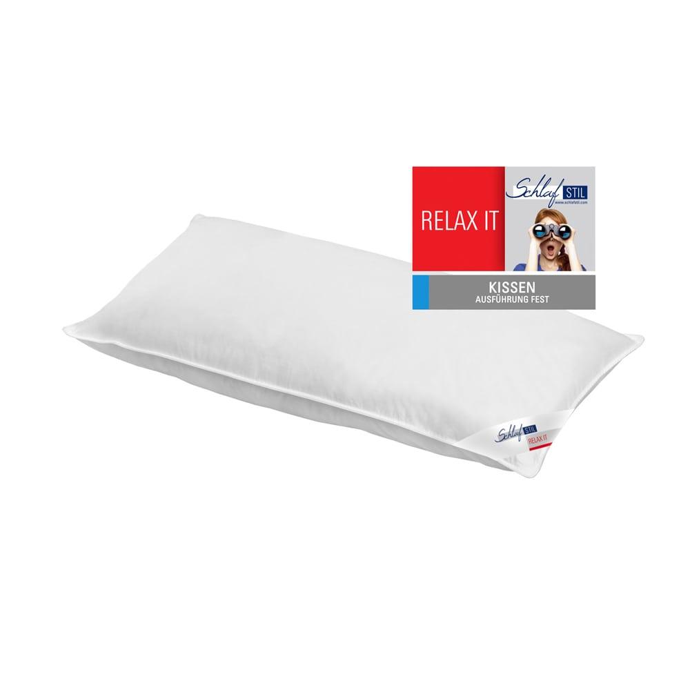 schlafstil faser kopfkissen relax it fest g nstig online kaufen bei bettwaren shop. Black Bedroom Furniture Sets. Home Design Ideas