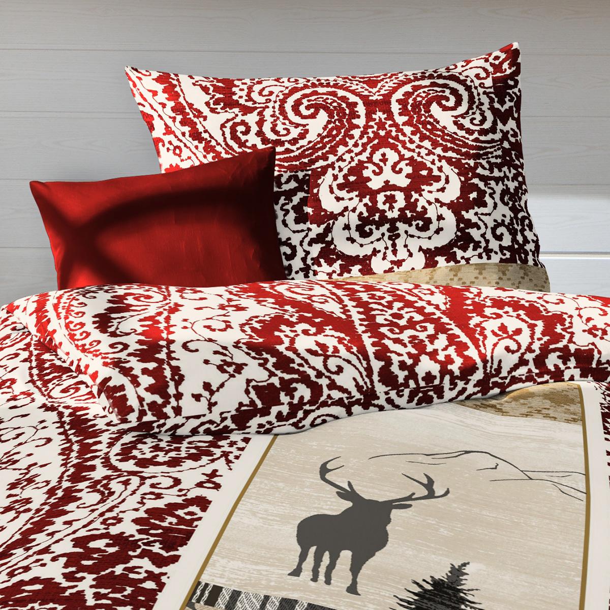 fleuresse feinbiber bettw sche hirsch rot g nstig online kaufen bei bettwaren shop. Black Bedroom Furniture Sets. Home Design Ideas