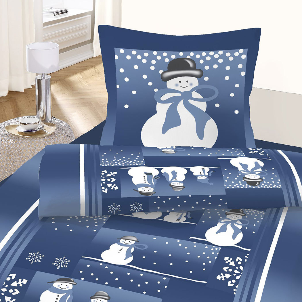 dobnig feinbiber bettw sche schneemann g nstig online. Black Bedroom Furniture Sets. Home Design Ideas