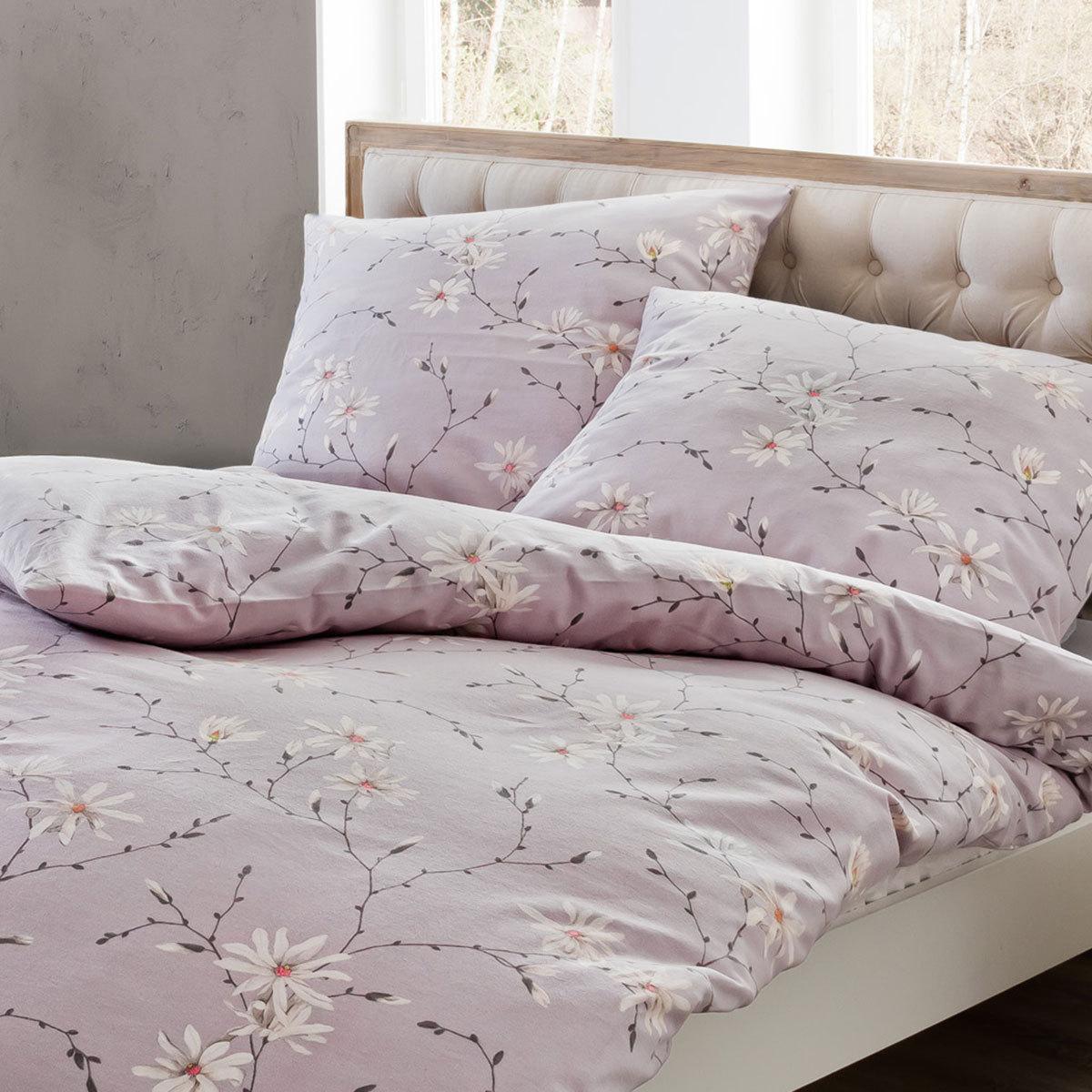estella feinflanell bettw sche zams mauve g nstig online kaufen bei bettwaren shop. Black Bedroom Furniture Sets. Home Design Ideas