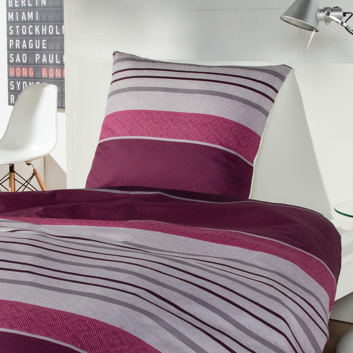 s oliver feinflanell bettw sche z rich weinrot g nstig. Black Bedroom Furniture Sets. Home Design Ideas