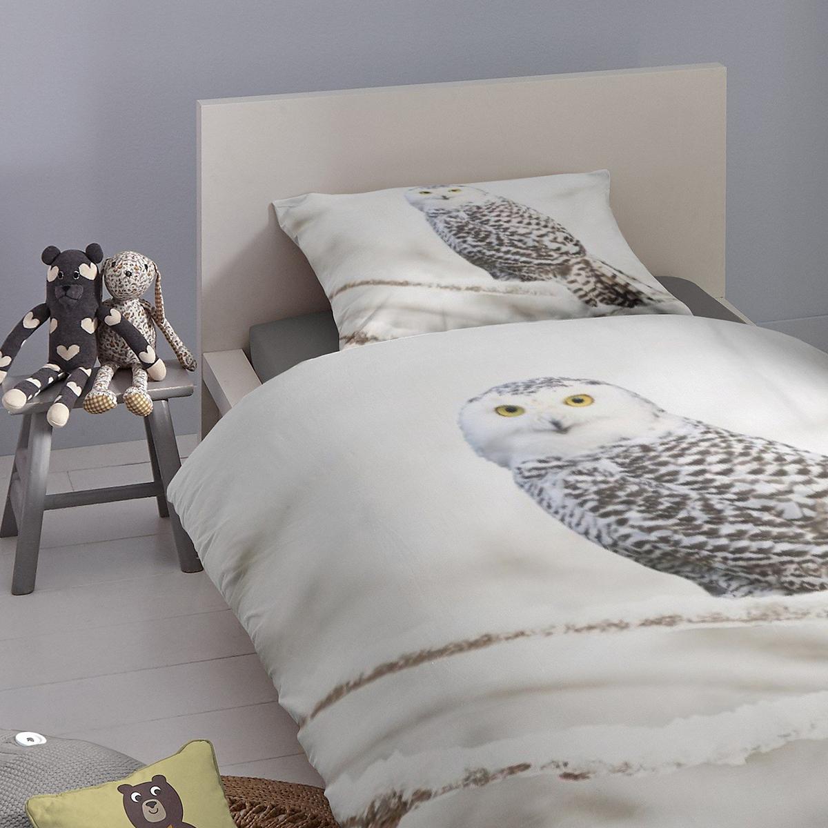good morning flanell bettw sche eule g nstig online kaufen bei bettwaren shop. Black Bedroom Furniture Sets. Home Design Ideas