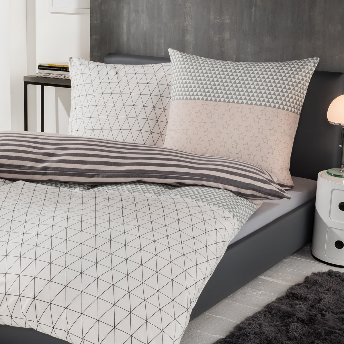 s oliver flanell bettw sche stars g nstig online kaufen bei bettwaren shop. Black Bedroom Furniture Sets. Home Design Ideas