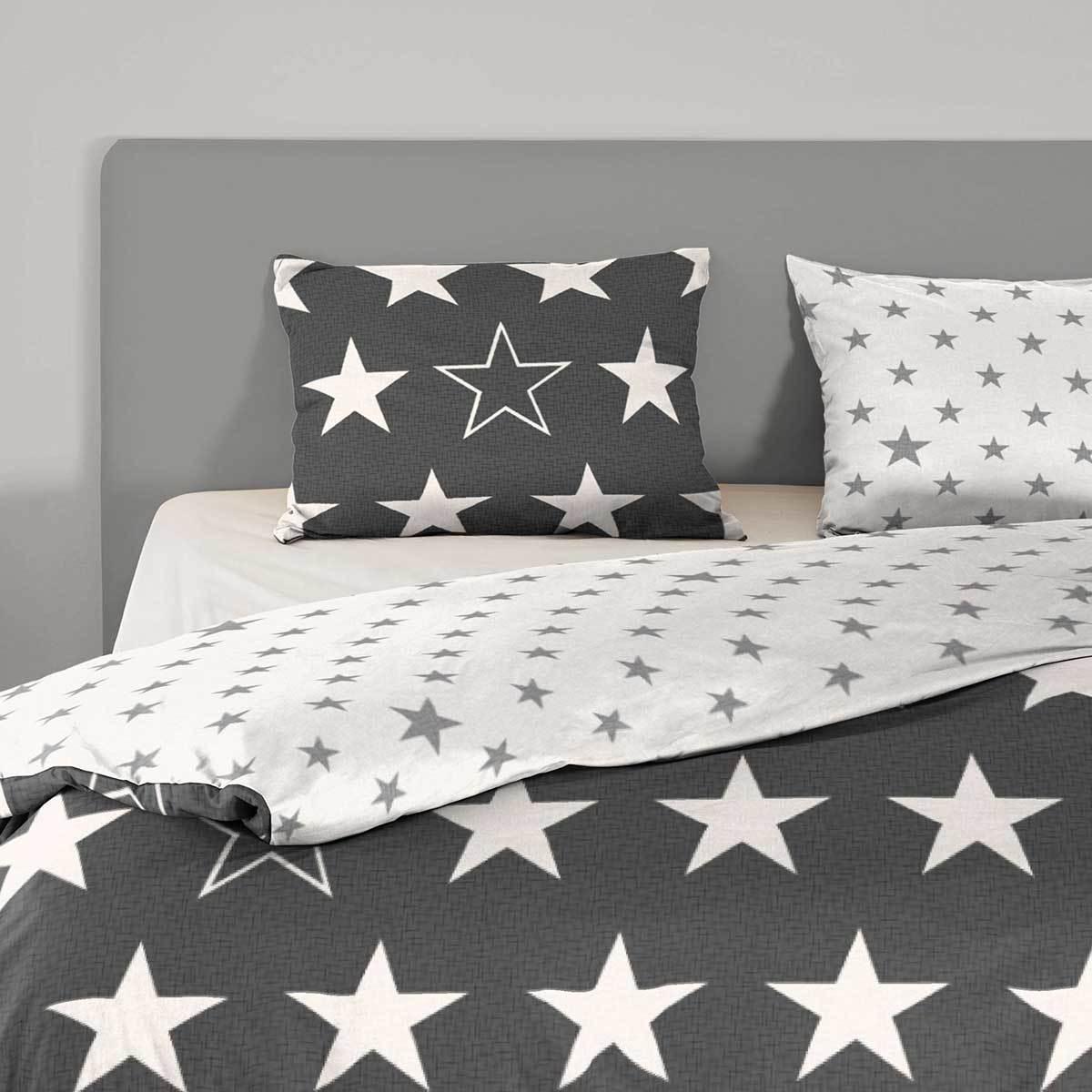 good morning flanell bettw sche sterne g nstig online kaufen bei bettwaren shop. Black Bedroom Furniture Sets. Home Design Ideas