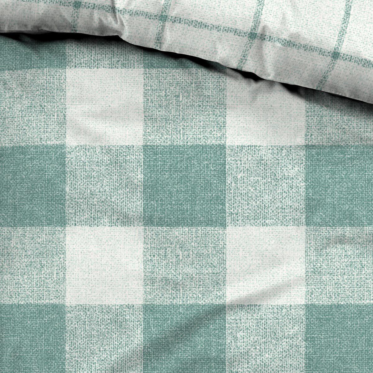 tom tailor flanell wendebettw sche flash kariert gr n g nstig online kaufen bei bettwaren shop. Black Bedroom Furniture Sets. Home Design Ideas