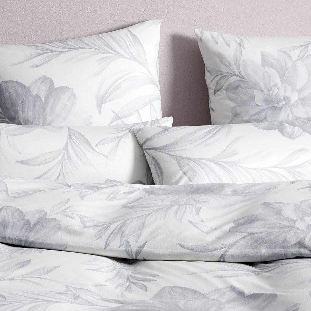 elegante jersey bettw sche blossom silbergrau g nstig online kaufen bei bettwaren shop. Black Bedroom Furniture Sets. Home Design Ideas