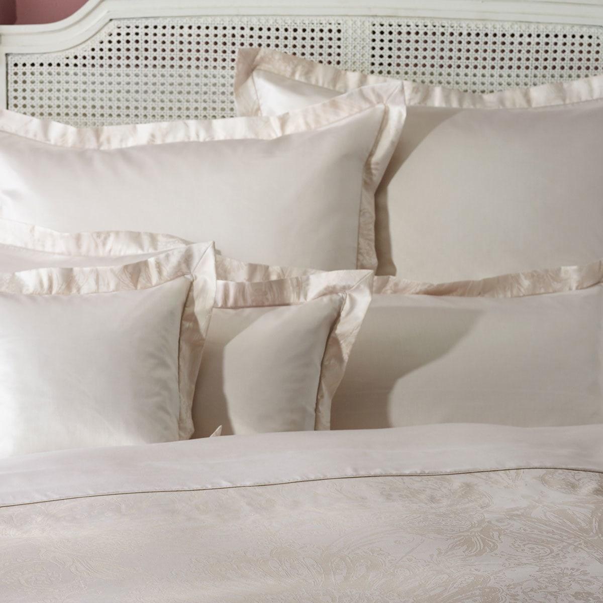curt bauer mako brokat damast bettw sche avignon beige. Black Bedroom Furniture Sets. Home Design Ideas