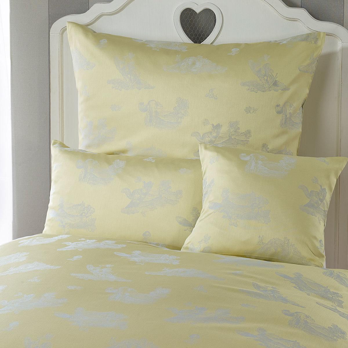curt bauer mako brokat damast bettw sche waldfreunde gelb g nstig online kaufen bei bettwaren shop. Black Bedroom Furniture Sets. Home Design Ideas