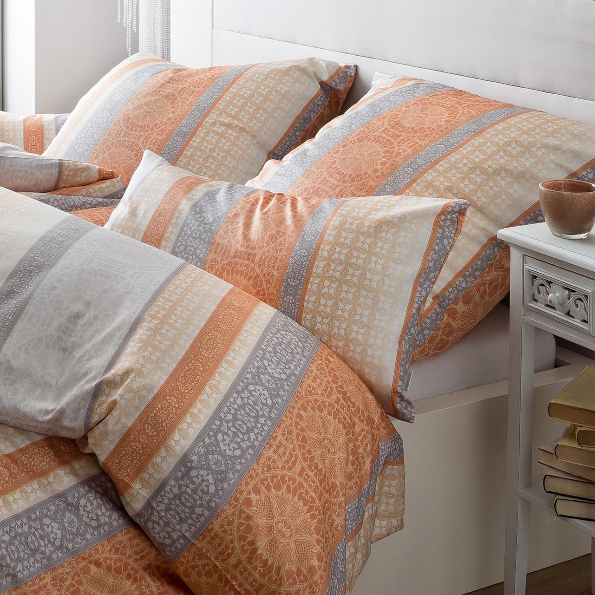 estella mako interlock jersey bettw sche 6252 360 orange. Black Bedroom Furniture Sets. Home Design Ideas