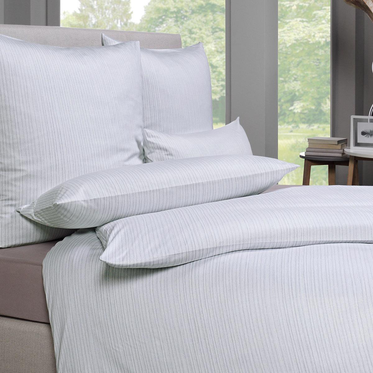 estella mako interlock jersey bettw sche ed silber g nstig online kaufen bei bettwaren shop. Black Bedroom Furniture Sets. Home Design Ideas