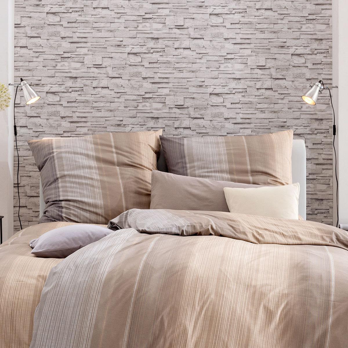 estella mako interlock jersey bettw sche luke nougat g nstig online kaufen bei bettwaren shop. Black Bedroom Furniture Sets. Home Design Ideas