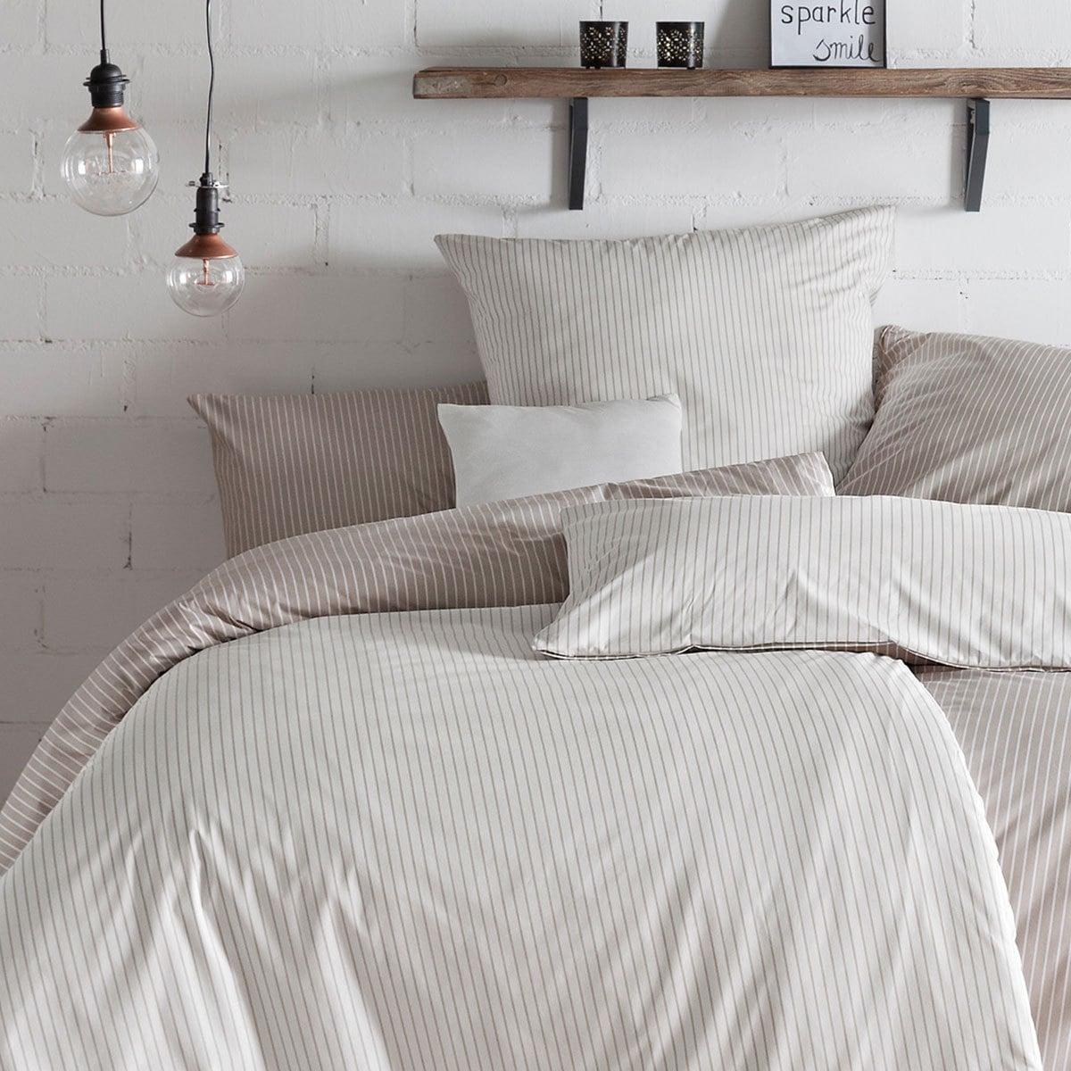 estella mako perkal wendebettw sche ronda kiesel g nstig online kaufen bei bettwaren shop. Black Bedroom Furniture Sets. Home Design Ideas