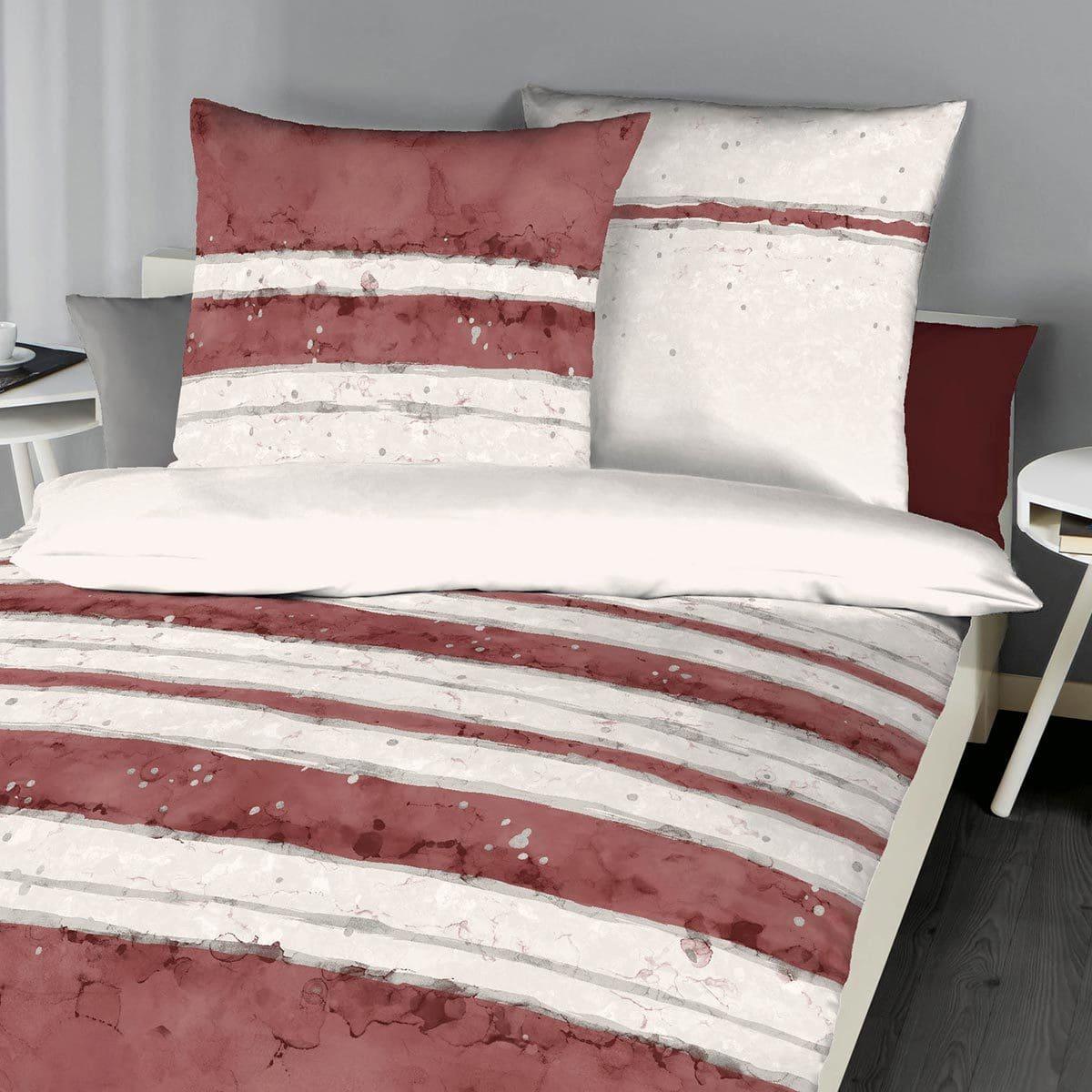 kaeppel mako satin bettw sche aquarello rubin g nstig. Black Bedroom Furniture Sets. Home Design Ideas