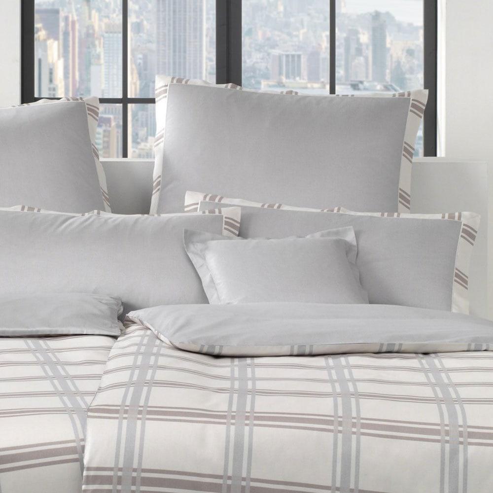 elegante mako satin bettw sche brooklyn greige g nstig online kaufen bei bettwaren shop. Black Bedroom Furniture Sets. Home Design Ideas