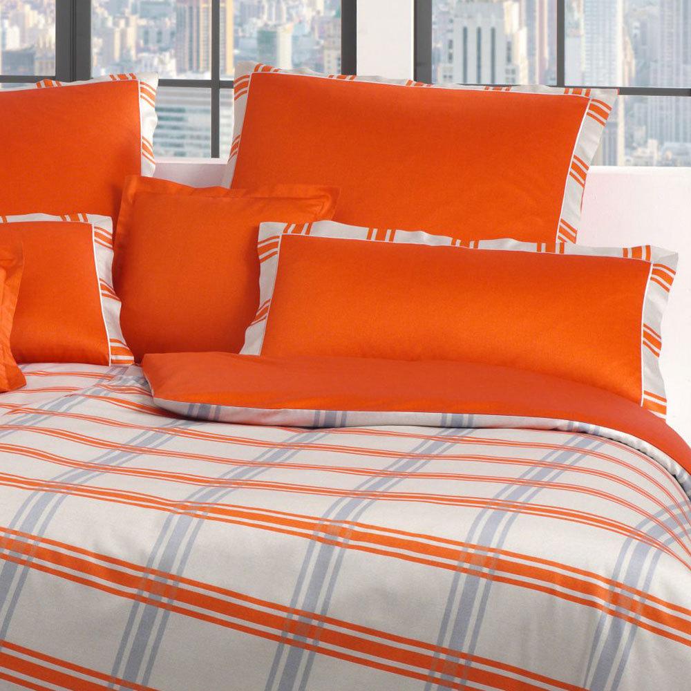 elegante mako satin bettw sche brooklyn orange g nstig. Black Bedroom Furniture Sets. Home Design Ideas