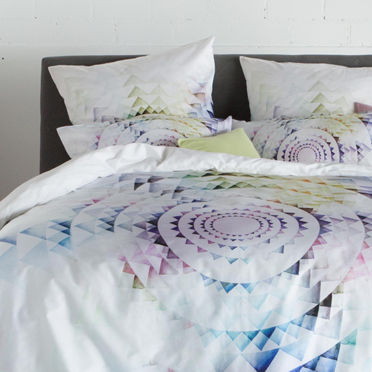 estella mako satin bettw sche circle multicolor g nstig. Black Bedroom Furniture Sets. Home Design Ideas