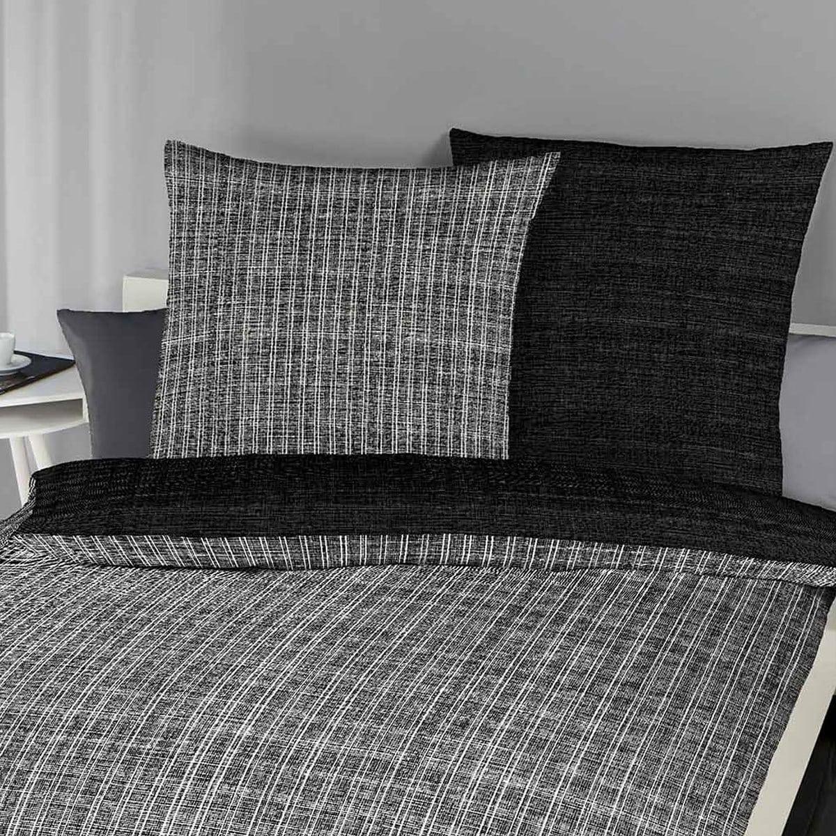 bettwarenshop mako satin bettw sche eternity combo schwarz g nstig online kaufen bei bettwaren shop. Black Bedroom Furniture Sets. Home Design Ideas