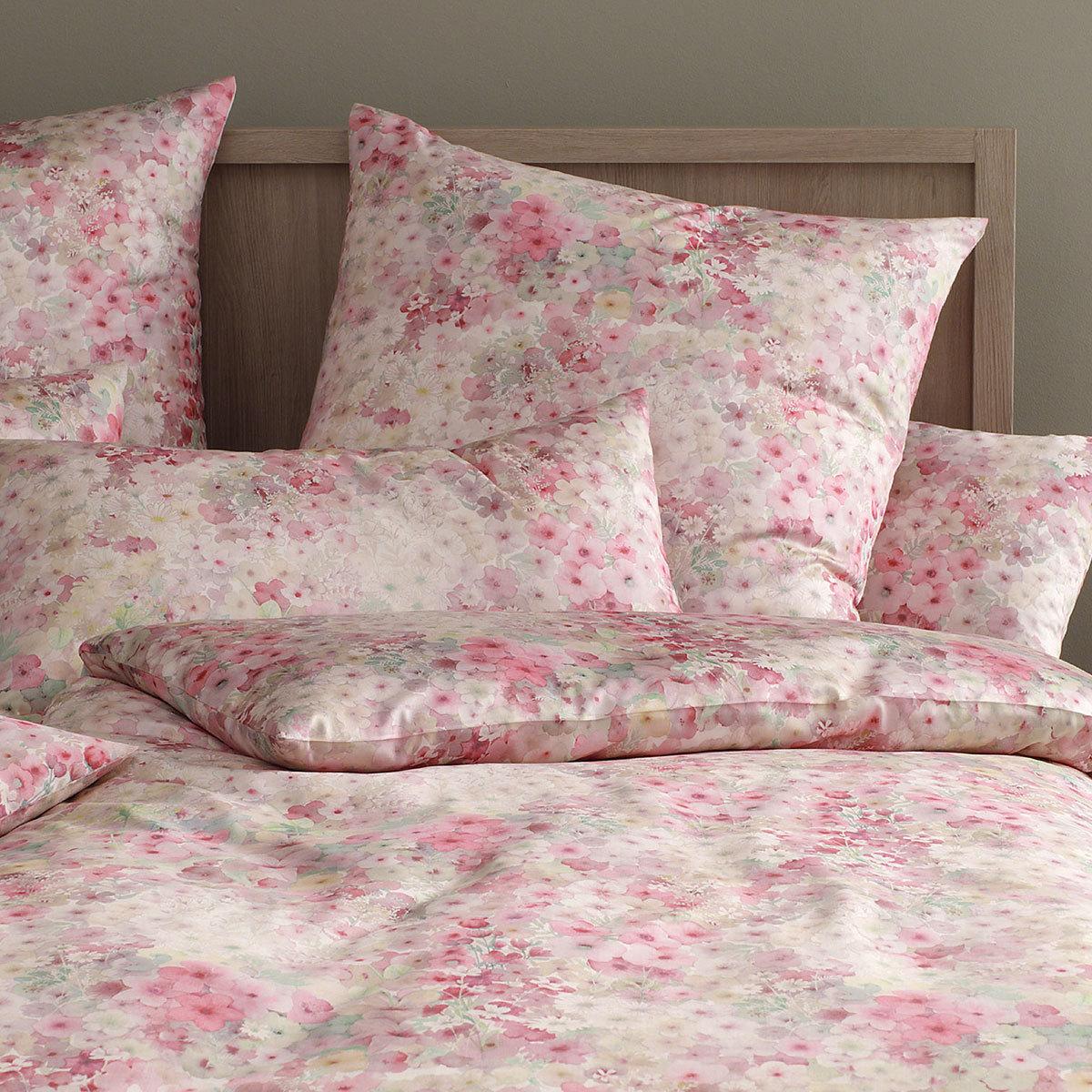 elegante mako satin bettw sche fiori rose g nstig online. Black Bedroom Furniture Sets. Home Design Ideas