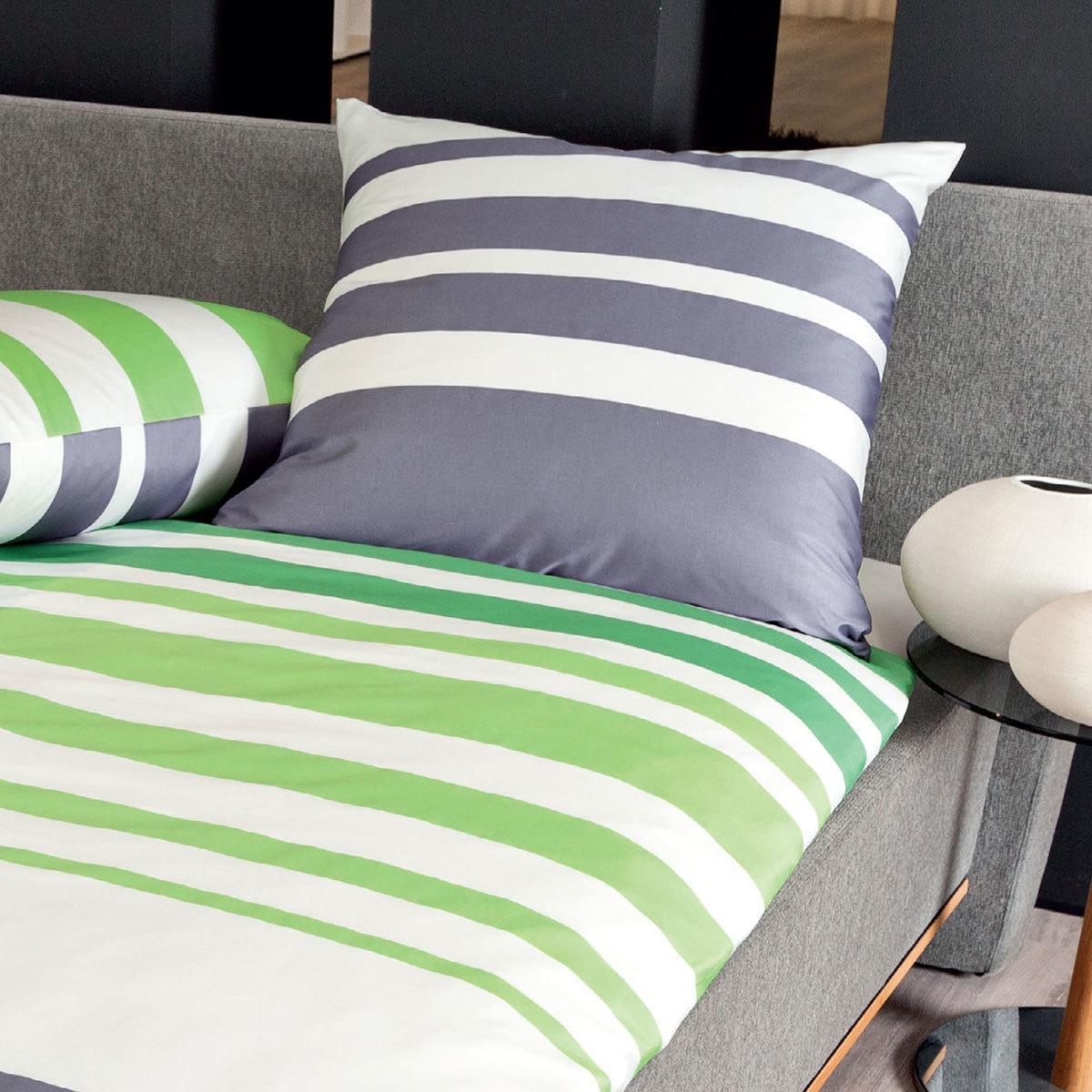 janine mako satin bettw sche j d 87028 06 gr n grau g nstig online kaufen bei bettwaren shop. Black Bedroom Furniture Sets. Home Design Ideas