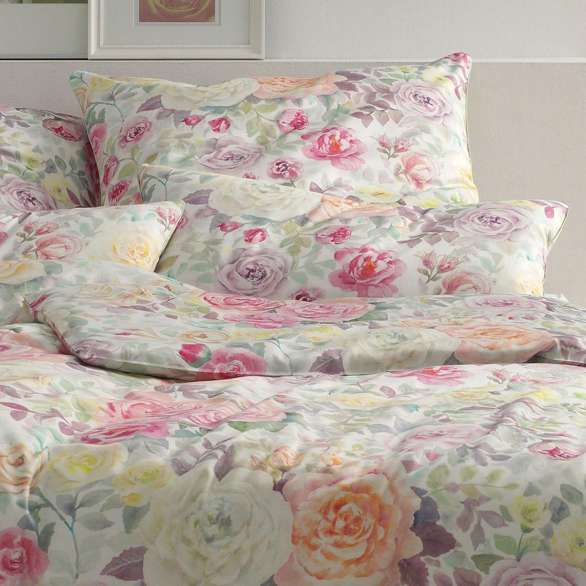 elegante mako satin bettw sche melody apricot g nstig online kaufen bei bettwaren shop. Black Bedroom Furniture Sets. Home Design Ideas