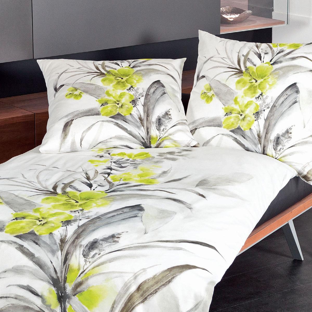 janine mako satin bettw sche modern art 42022 03 gelb g nstig online kaufen bei bettwaren shop. Black Bedroom Furniture Sets. Home Design Ideas