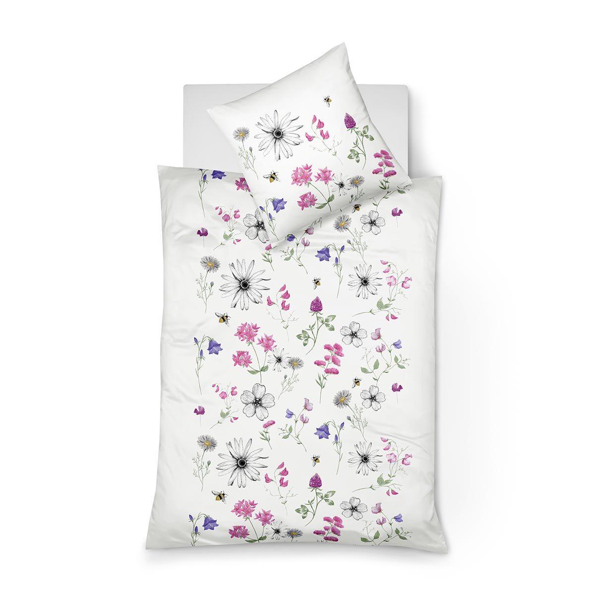 fleuresse mako satin bettw sche modern garden 113825 09 g nstig online kaufen bei bettwaren shop. Black Bedroom Furniture Sets. Home Design Ideas