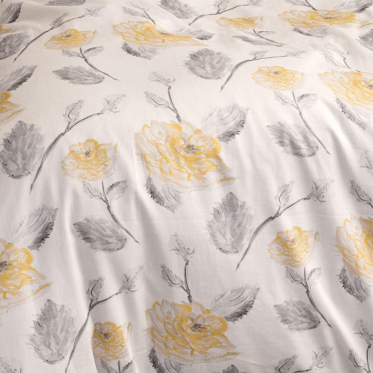 sch ner wohnen mako satin bettw sche orelia gelb g nstig online kaufen bei bettwaren shop. Black Bedroom Furniture Sets. Home Design Ideas