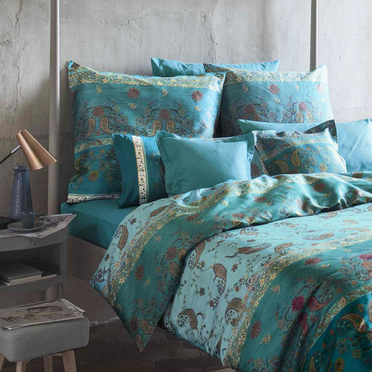 bassetti mako satin bettw sche raffaello v2 g nstig online kaufen bei bettwaren shop. Black Bedroom Furniture Sets. Home Design Ideas