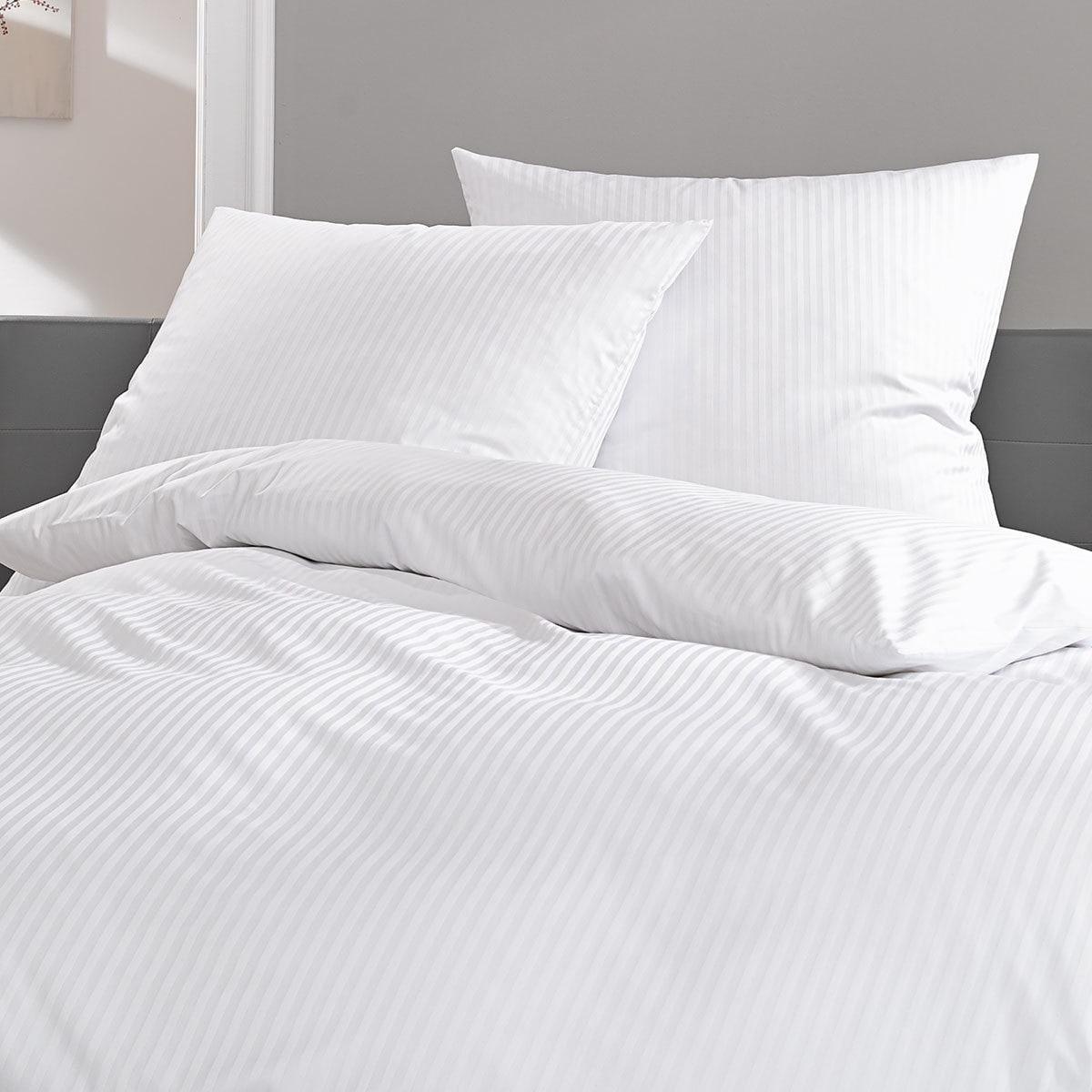 lorena mako satin bettw sche toscana 10 mm streifen g nstig online kaufen bei bettwaren shop. Black Bedroom Furniture Sets. Home Design Ideas