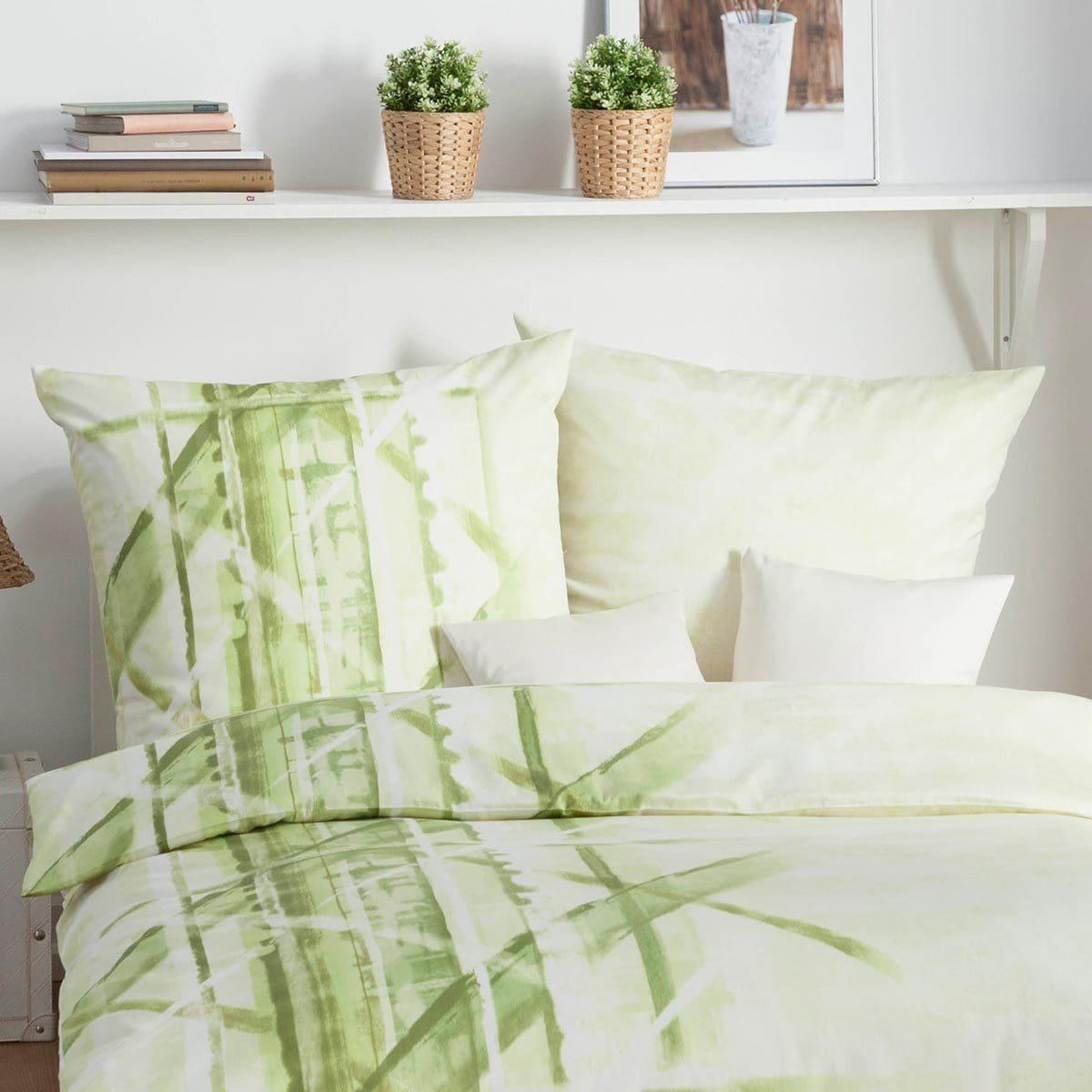 kaeppel mako satin bettw sche view gr n g nstig online kaufen bei bettwaren shop. Black Bedroom Furniture Sets. Home Design Ideas