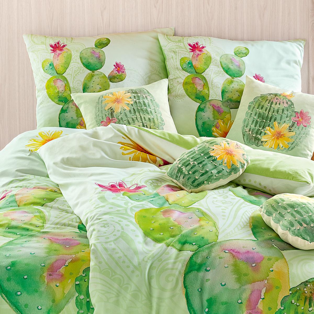 living dreams mako satin wendebettw sche kaktus g nstig online kaufen bei bettwaren shop. Black Bedroom Furniture Sets. Home Design Ideas