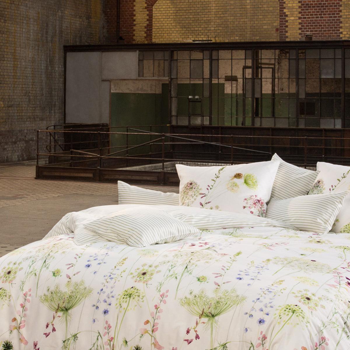 Estella Mako Satin Wendebettwäsche Meadow Grün Günstig Online Kaufen