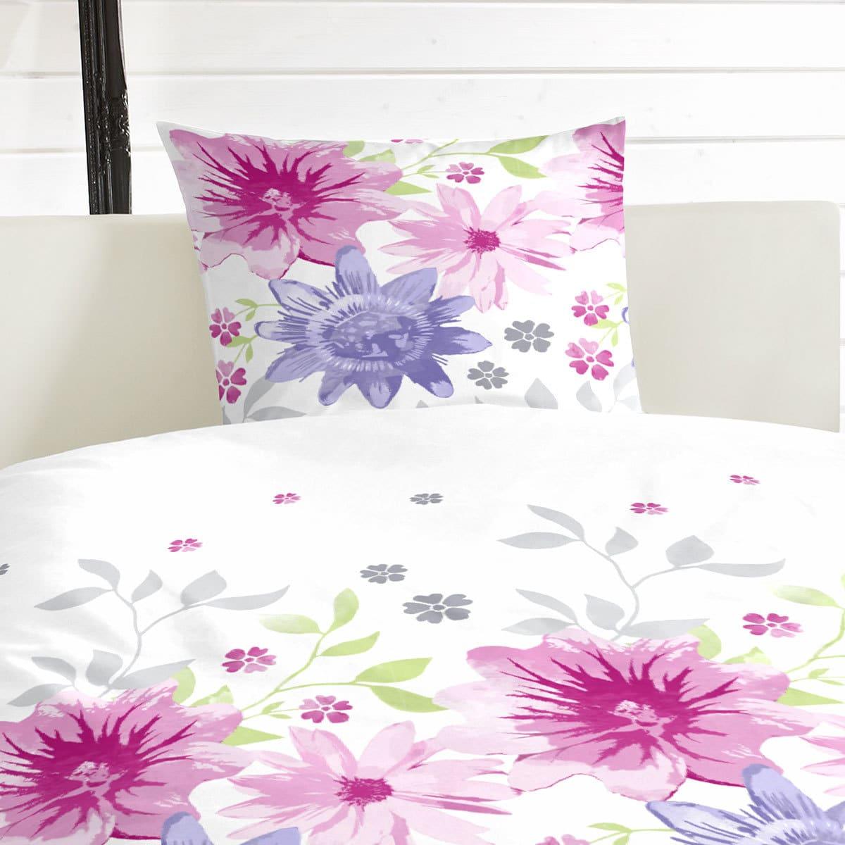 hahn perkal bettw sche blumenwiese pink g nstig online. Black Bedroom Furniture Sets. Home Design Ideas