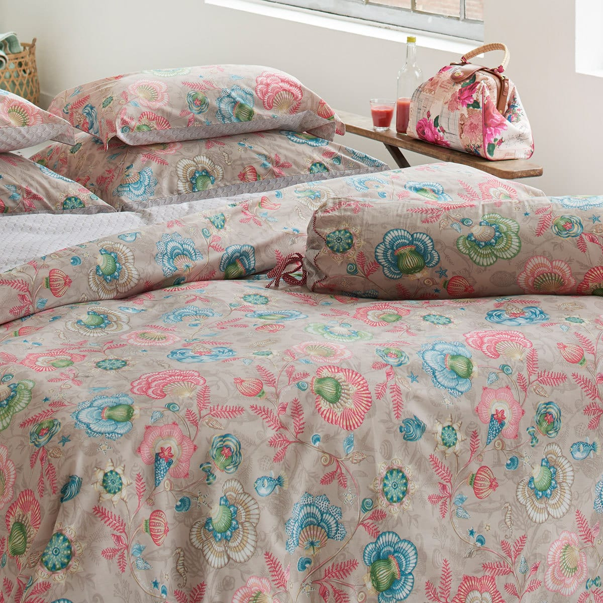 pip studio perkal wendebettw sche shellebration khaki g nstig online kaufen bei bettwaren shop. Black Bedroom Furniture Sets. Home Design Ideas