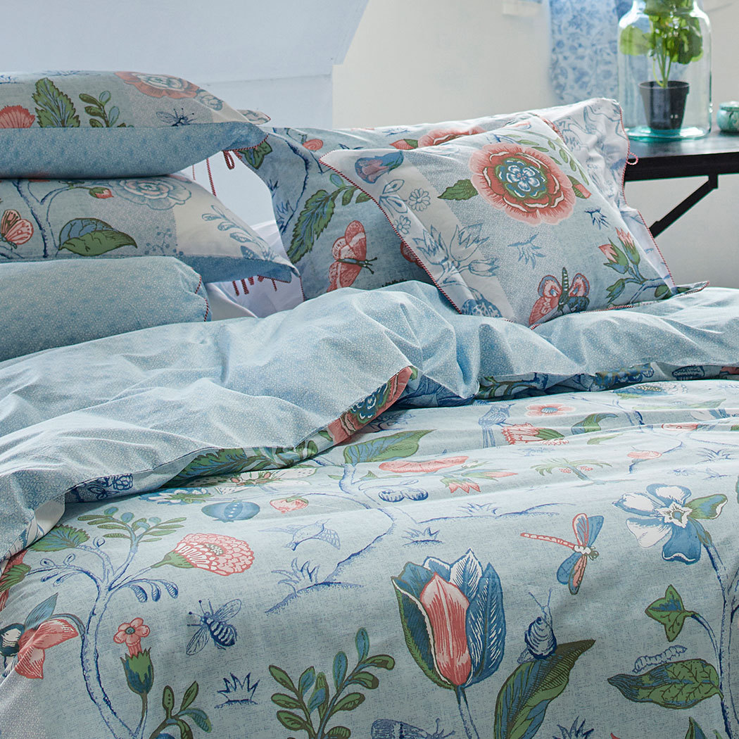 pip studio perkal wendebettw sche spring to life blue g nstig online kaufen bei bettwaren shop. Black Bedroom Furniture Sets. Home Design Ideas