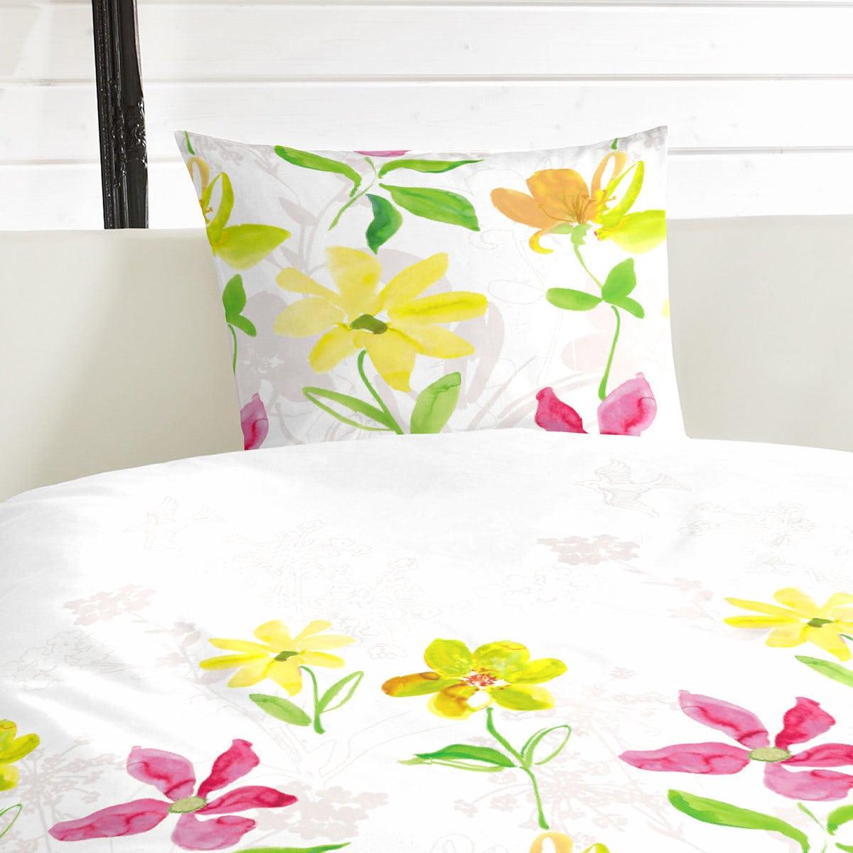 hahn renforc bettw sche blumen bunt g nstig online kaufen bei bettwaren shop. Black Bedroom Furniture Sets. Home Design Ideas