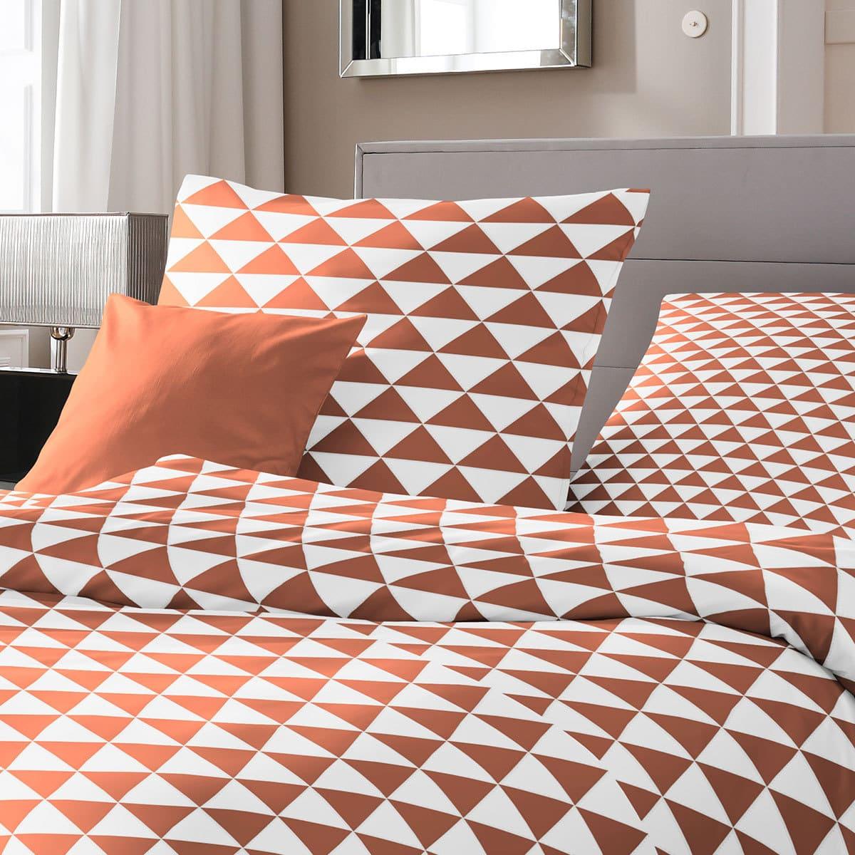 traumschlaf renforc bettw sche rauten orange g nstig online kaufen bei bettwaren shop. Black Bedroom Furniture Sets. Home Design Ideas