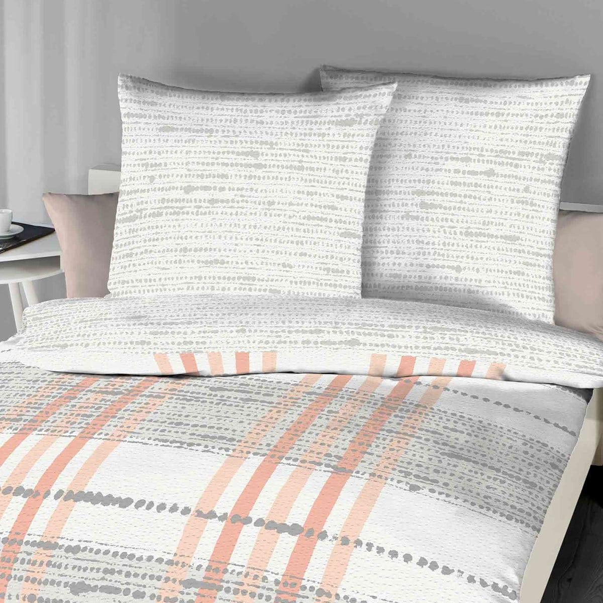 kaeppel seersucker bettw sche anyway apricot g nstig online kaufen bei bettwaren shop. Black Bedroom Furniture Sets. Home Design Ideas