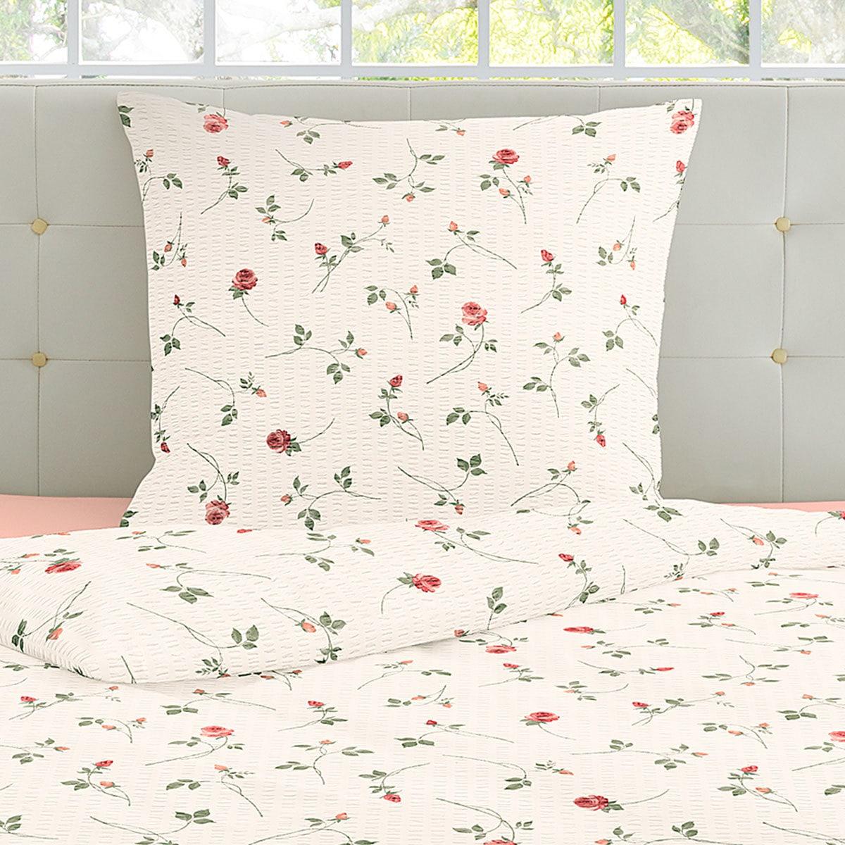 irisette seersucker bettw sche flower rot g nstig online kaufen bei bettwaren shop. Black Bedroom Furniture Sets. Home Design Ideas