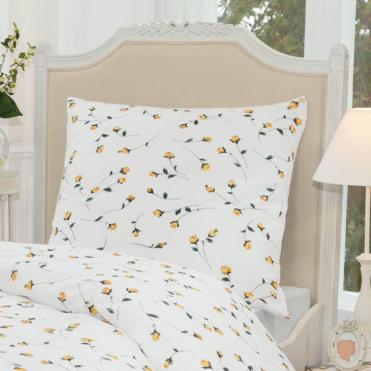 janine seersucker bettw sche tango gelb g nstig online kaufen bei bettwaren shop. Black Bedroom Furniture Sets. Home Design Ideas